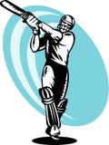 Gravure sur bois d'ouate en feuille de batteur de cricket Photographie stock