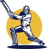 Gravure sur bois d'ouate en feuille de batteur de cricket Photo stock