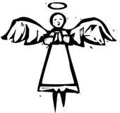 Gravure sur bois grande d'ange illustration libre de droits