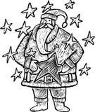 Gravure van de Kerstman Royalty-vrije Stock Fotografie