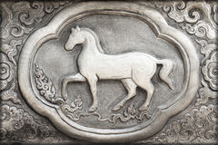 Gravure van de zilveren waarde, Dierenriemsymbool Royalty-vrije Stock Foto's