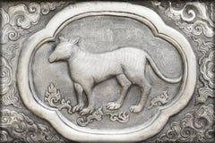 Gravure van de zilveren waarde, Dierenriemsymbool Royalty-vrije Stock Afbeelding