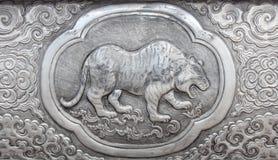 Gravure van de zilveren waarde, Dierenriemsymbool Stock Foto's