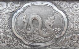 Gravure van de zilveren waarde, Dierenriemsymbool Royalty-vrije Stock Foto