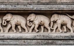 Gravure van olifanten Royalty-vrije Stock Afbeeldingen