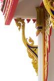 Gravure van Thaise tempel Stock Foto