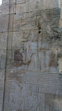 Gravures égyptiennes de temple antique dessus Image libre de droits