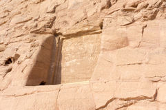 Gravures égyptiennes de temple antique dessus Photos stock