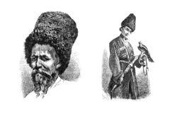 Gravures, illustraties van mensen van verschillende nationaliteiten Royalty-vrije Stock Fotografie