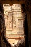 Gravures op de muur, Angkor Wat, Kambodja Stock Fotografie