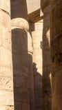 Gravures sur des colonnes dans antique Image stock