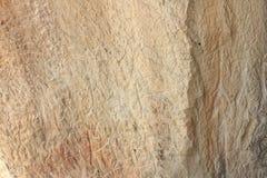 Gravures van oude mensen op de rotsen van Gobustan Royalty-vrije Stock Foto's