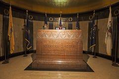 Gravvalv av Abraham Lincoln Arkivbild