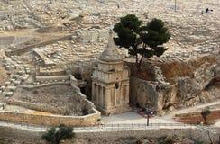 Gravvalv av Absalom (Absaloms pelare) i Kidron Valley, Jerusalem, Israel Fotografering för Bildbyråer
