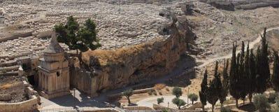 Gravvalv av Absalom i Kidronet Valley, Israel Royaltyfri Fotografi
