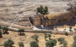 Gravvalv av Absalom, Kidron Valley, Jerusalem Arkivfoto