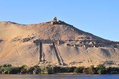 Gravvalv av adelsmannarna - Aswan, Egypten Royaltyfri Bild