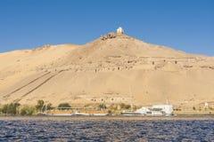 Gravvalv av adelsmannarna i Aswan, Egypten royaltyfria bilder