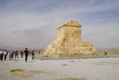 Gravvalv av Cyrus det stort, Pasargad i Iran Royaltyfri Bild