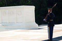Gravvalv av de okända soldaterna, Arlington royaltyfri bild