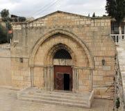 Gravvalv av den jungfruliga Maryen. Jerusalem arkivbild