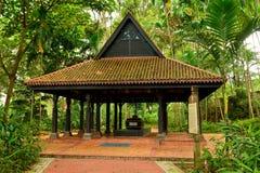 Gravvalv av den Keramat Iskandar schah på fortet som på burk i Singapore Royaltyfria Bilder