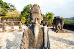 Gravvalv av den Khai Dinh kejsaren i ton, Vietnam Royaltyfri Foto