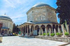 Gravvalv av den legendariska turkiska sultan Suleiman och hans fru Roksolana Royaltyfria Foton