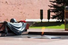 Gravvalv av den okända soldaten i Moskva Arkivfoton