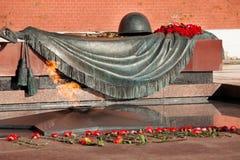 Gravvalv av den okända soldaten In Moscow Arkivfoton