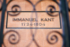 Gravvalv av den tyska filosofen Immanuel Kant royaltyfri fotografi