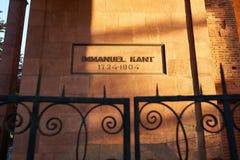 Gravvalv av filosofen Immanuel Kant Kaliningrad arkivfoton