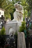 Gravvalv av Frederic Chopin, kyrkogård Pere Lachaise, Paris Arkivfoton