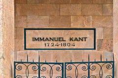 Gravvalv av Immanuel Kant. Kaliningrad (till Koenigsberg 1946), Ryssland royaltyfria foton