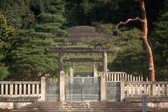 Gravvalv av kejsarinnan Shoken, Kyoto, Japan Royaltyfria Bilder