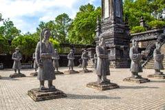 Gravvalv av Khai Dinh i ton, Vietnam royaltyfri foto