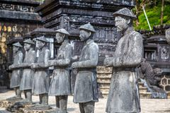 Gravvalv av Khai Dinh i ton, Vietnam royaltyfri fotografi