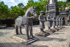 Gravvalv av Khai Dinh i ton, Vietnam royaltyfria foton