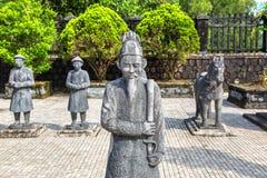Gravvalv av Khai Dinh i ton, Vietnam royaltyfria bilder