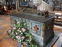 Gravvalv av konungen John av England, Worcester domkyrka Arkivbilder