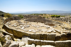 Gravvalv av konungen, Mycenae Arkivbild