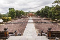 Gravvalv av Minh Mang King i ton, Vietnam Arkivfoton