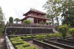 Gravvalv av Minh Mang King i ton, Vietnam Arkivbilder