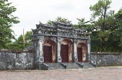 Gravvalv av Minh Mang King i ton, Vietnam Arkivfoto