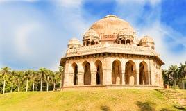 Gravvalv av Mohammed Shah, Lodhi trädgårdar, New Delhi Royaltyfri Fotografi