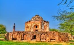Gravvalv av Mohd Quli Khan i Delhi, Indien arkivbild