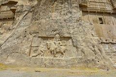 Gravvalv av perserkonungarna i nekropolen, Shiraz, Iran Royaltyfri Bild