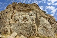 Gravvalv av perserkonungarna i nekropolen, Shiraz, Iran Royaltyfria Foton