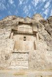 Gravvalv av perserkonungarna i nekropolen, Shiraz, Iran Royaltyfri Fotografi