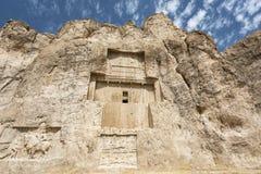 Gravvalv av perserkonungarna i nekropolen, Shiraz, Iran Arkivfoton